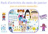 Pack  d'activités du mois de janvier