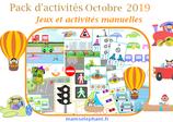 Pack  d'activités Octobre 2019 - Les transports