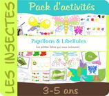 Pack d'activités - Papillons et Libellules