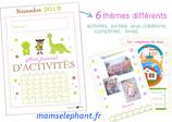 Pack  d'activités Novembre 2019 - Les Dinosaures