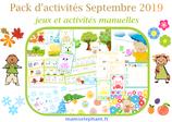Pack  d'activités Septembre 2019 - Les saisons