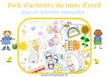 Pack  d'activités du mois d'Avril