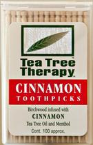 Tea Tree Therapy Zahnstocher - Zimt / Cinnamon