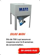 Silo granulés Midi 730 L