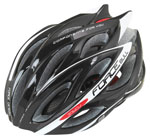 FORCE HELMET BULL BLACK-FLUO BLACK-WHITE