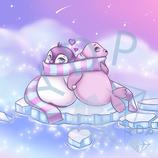 Robbe und Pinguin in Love