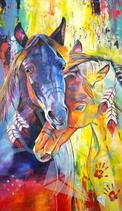 Indian war horses