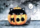 Halloween Kater Moo