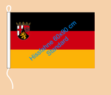 Rheinland-Pfalz / Hißfahne im Querformat