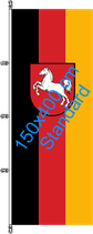 Niedersachsen / Hißfahne im Hochformat