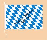 Bayern Raute / Hißfahne im Querformat