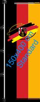 Rheinland-Pfalz (Bürgerwappen) / Hißfahne im Hochformat