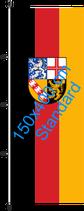 Saarland / Hißfahne im Hochformat