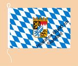 Bayern Raute-Wappen / Hißfahne im Querformat