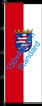 Hessen / Hißfahne im Hochformat