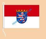 Hessen / Hißfahne im Querformat
