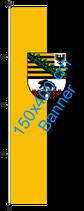 Sachsen-Anhalt / Hißfahne im Hochformat