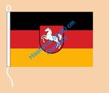 Niedersachsen / Hißfahne im Querformat
