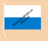 Bayern weiß-bay.blau / Hißfahne im Querformat
