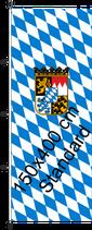 Bayern Raute-Wappen / Hißfahne im Hochformat