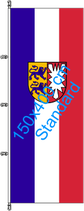 Schleswig-Holstein / Hißfahne im Hochformat