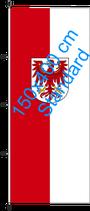 Brandenburg / Hißfahne im Hochformat
