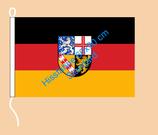 Saarland / Hißfahne im Querformat