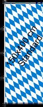 Bayern Raute / Hißfahne im Hochformat