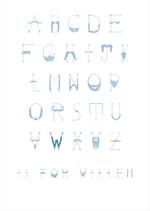 A4 Poster Naamalfabet Blauw