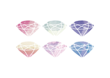 Watercolour Diamonds