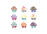 Watercolour Cupcakes