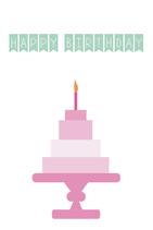 Happy Birthday - Roze Taart