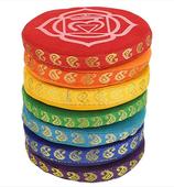 Coussins pour bols chantants SET 7 chakras