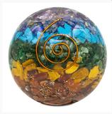 Sphère d'Orgonite Chakra