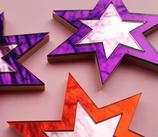 Spiegel Stern - zweifarbig