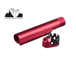 CST Enhanced Castle Nut, End Plate and 6 Position Stock tube for M4 AEG - Red