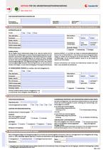 Antrag Grundfähigkeitsversicherung