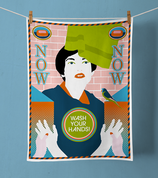 TEA TOWEL »WASH YOUR HANDS!«