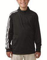 adidas Golf Junior, Jungen, Pullover, 3-stripes 1/4 zip, Layering, Schwarz