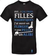 "t-shirt ""alibi"" 3 filles"