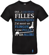 "t-shirt ""alibi"" 2 filles"