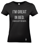 I'm great in bed.