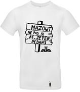"""t-shirt LA CITE DE LA PEUR """"mazout"""" blanc"""