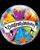 Bubble congratulation Sterne