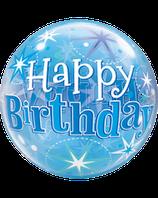 Bubble Happy Birthday blau