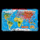 PUZLE MAGNÉTICO ATLAS MUNDIAL 92 PIEZAS (MADERA)
