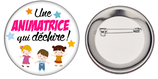 Badge Animatrice qui déchire