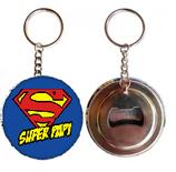 Porte clé décapsuleur Super Papi