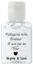 Mini gel hydroalcoolique personnalisé