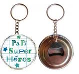 Porte clé décapsuleur Papi Super Héros